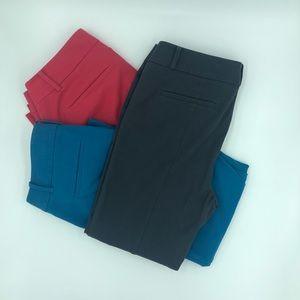 Three pairs of loft pants